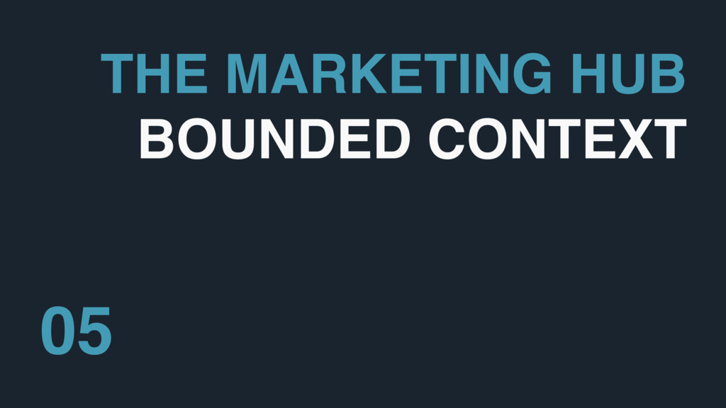THE MARKETING HUB BOUNDED CONTEXT 05