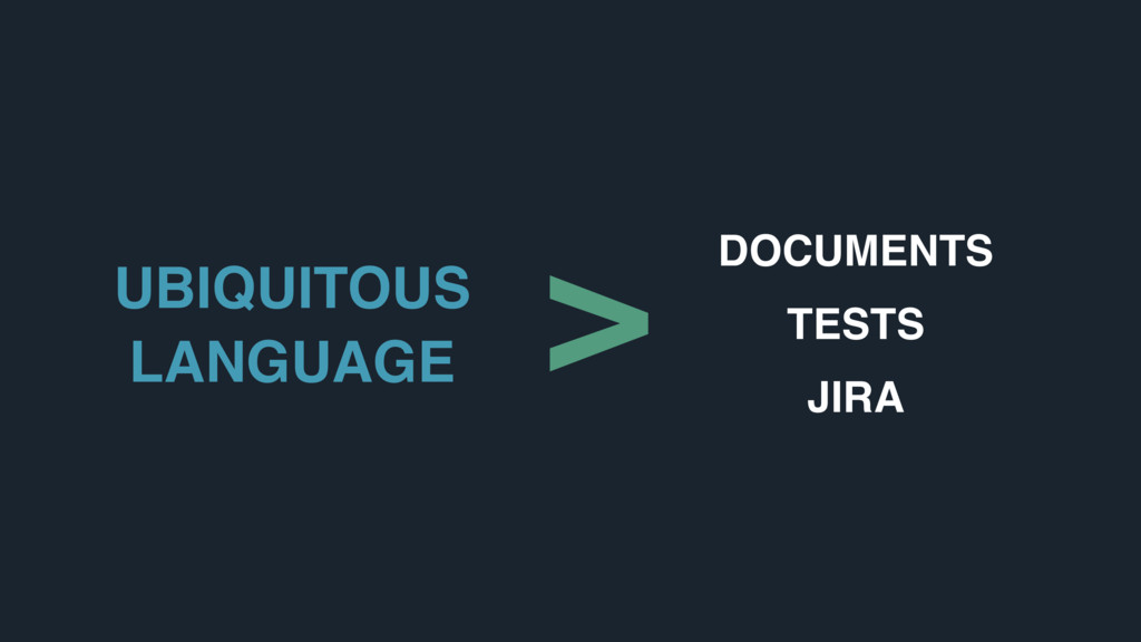 UBIQUITOUS LANGUAGE DOCUMENTS TESTS JIRA >