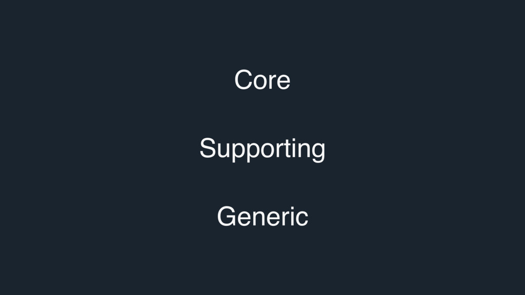 Core Supporting Generic