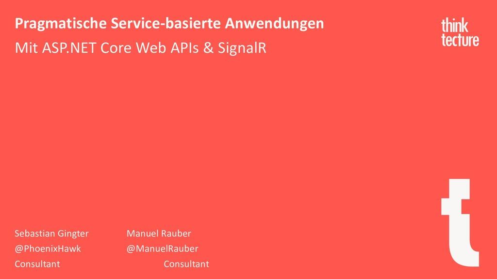 Pragmatische Service-basierte Anwendungen Mit A...
