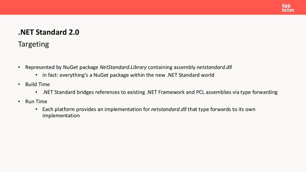 Targeting • Represented by NuGet package NetSta...