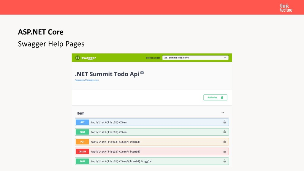 Swagger Help Pages ASP.NET Core