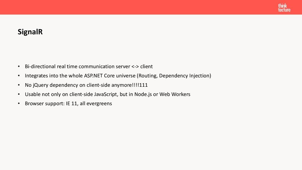 • Bi-directional real time communication server...