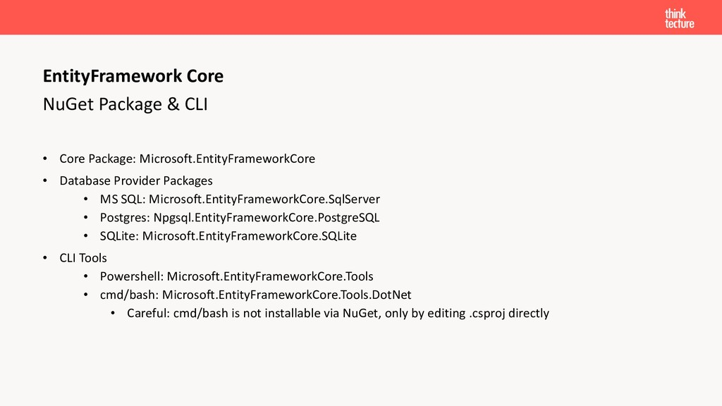 NuGet Package & CLI • Core Package: Microsoft.E...