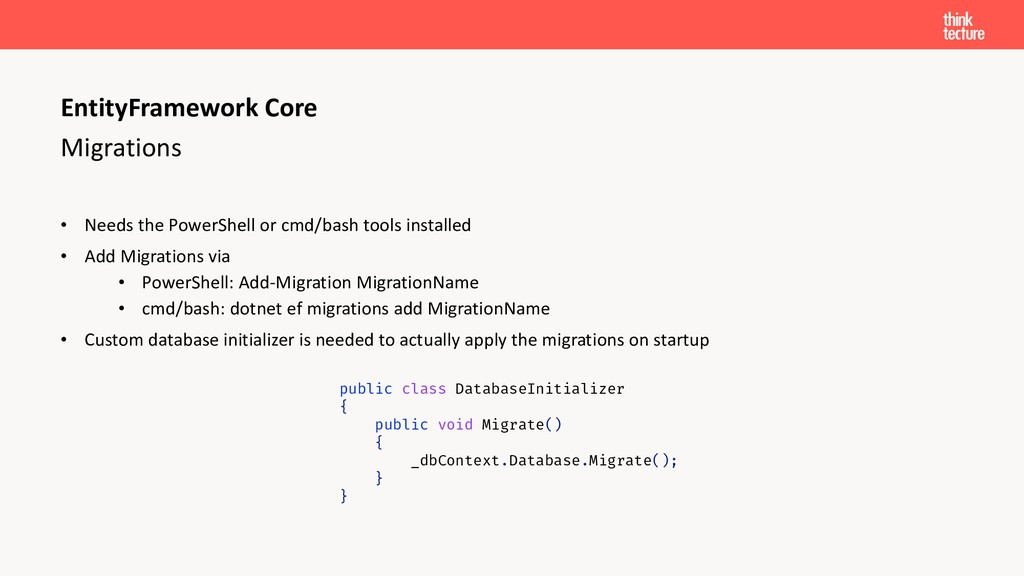 Migrations • Needs the PowerShell or cmd/bash t...