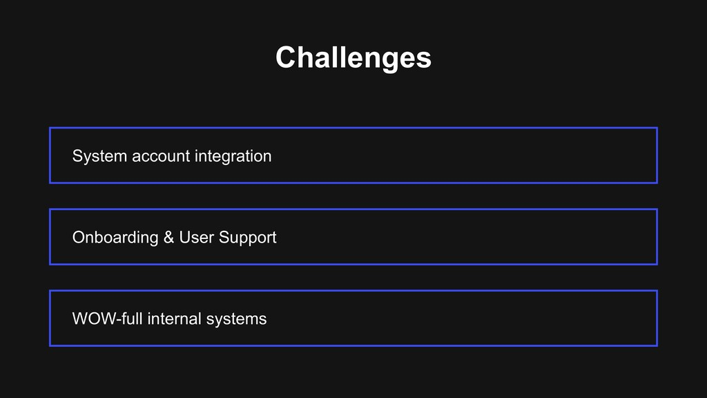 Challenges System account integration WOW-full ...