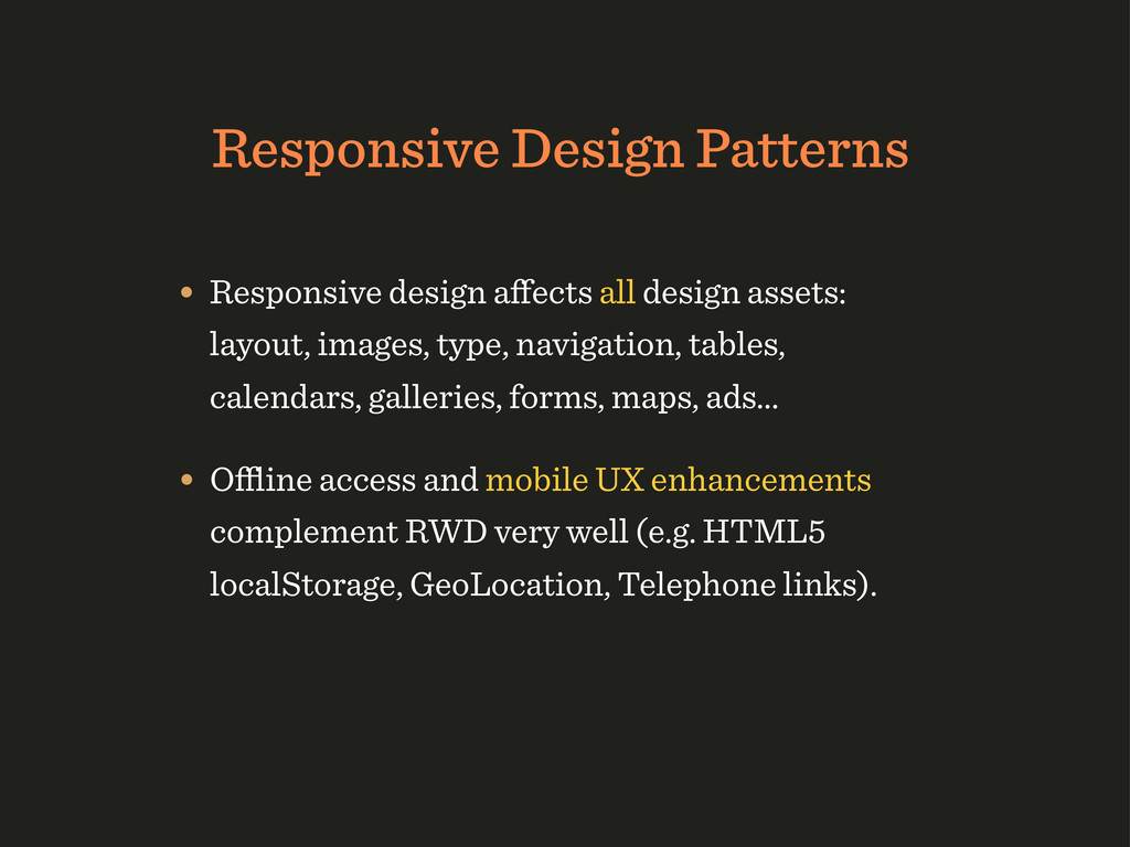 Responsive Design Patterns • Responsive design ...