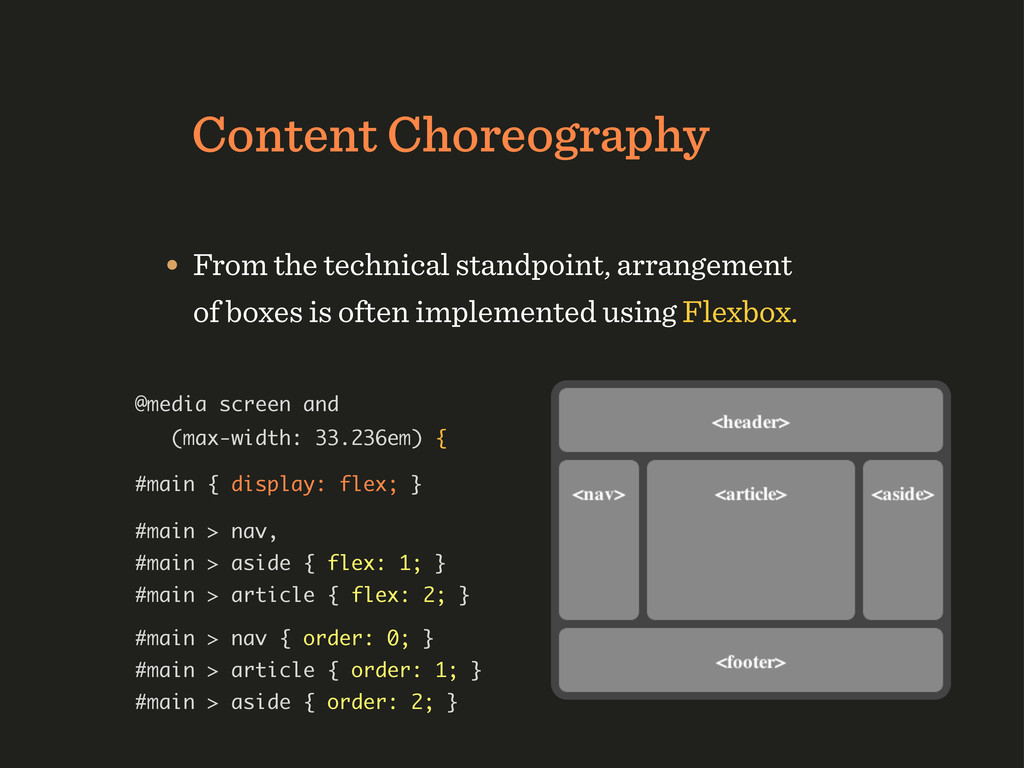 Content Choreography • From the technical stand...