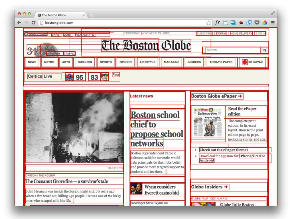 Wir denken dass das Web so aussieht. Als Design...