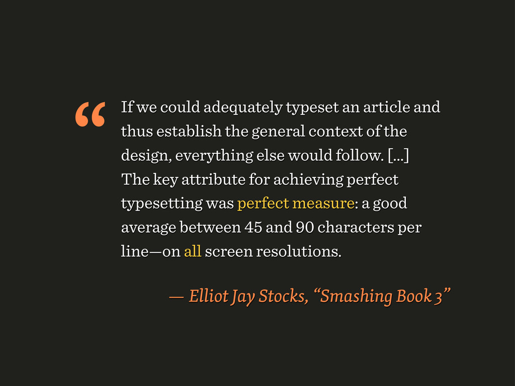 If we could adequately typeset an article and t...
