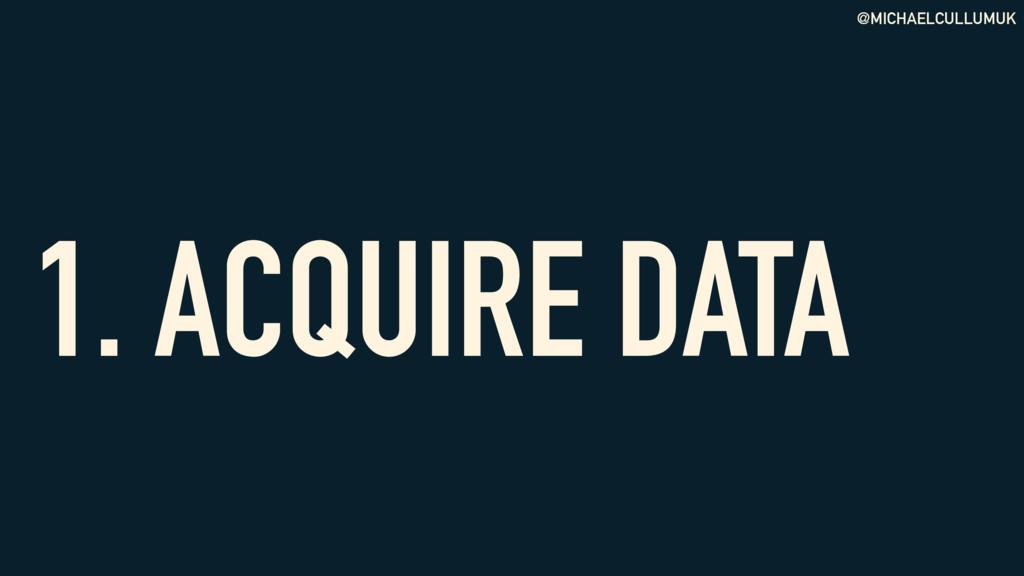 @MICHAELCULLUMUK 1. ACQUIRE DATA