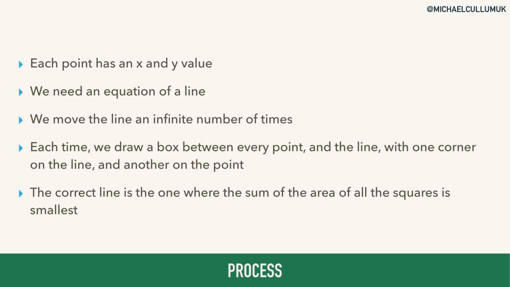 @MICHAELCULLUMUK ▸ Each point has an x and y va...