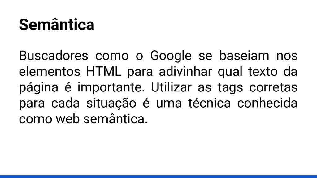 Semântica Buscadores como o Google se baseiam n...