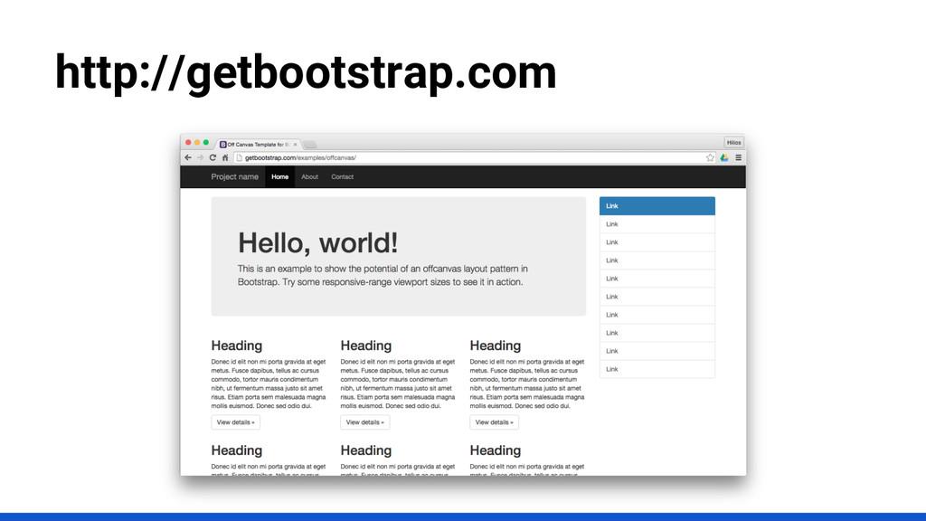 http://getbootstrap.com