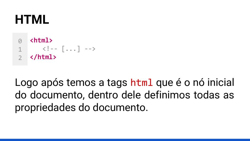 0 1 2 HTML <html> <!-- [...] --> </html> Logo a...
