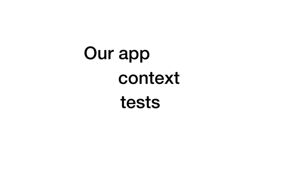 Our app context tests