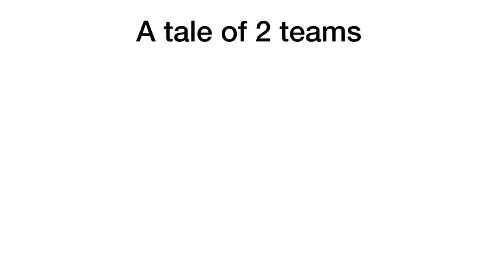 A tale of 2 teams