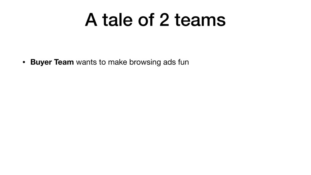 • Buyer Team wants to make browsing ads fun A t...