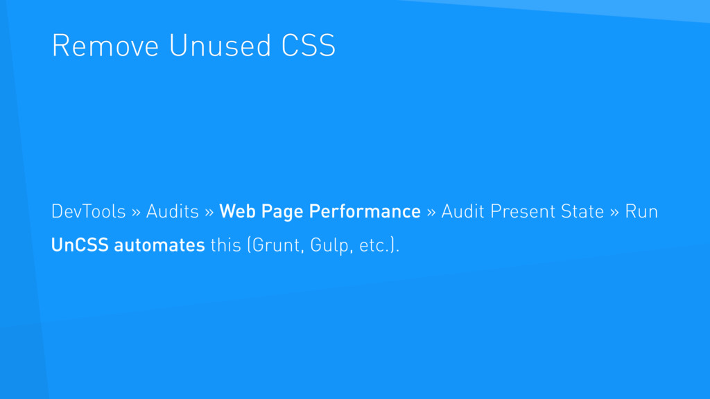 Remove Unused CSS DevTools » Audits » Web Page ...