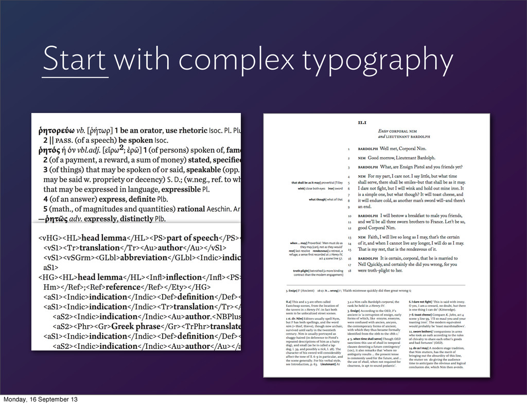 Start with complex typography Monday, 16 Septem...
