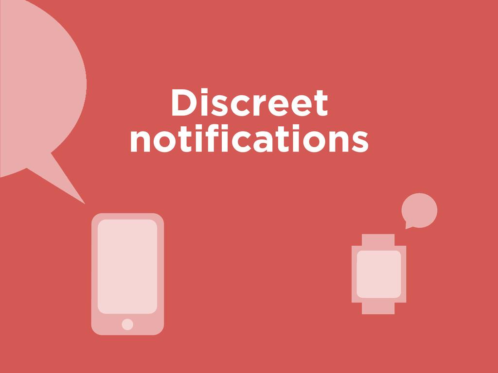 Discreet notifications