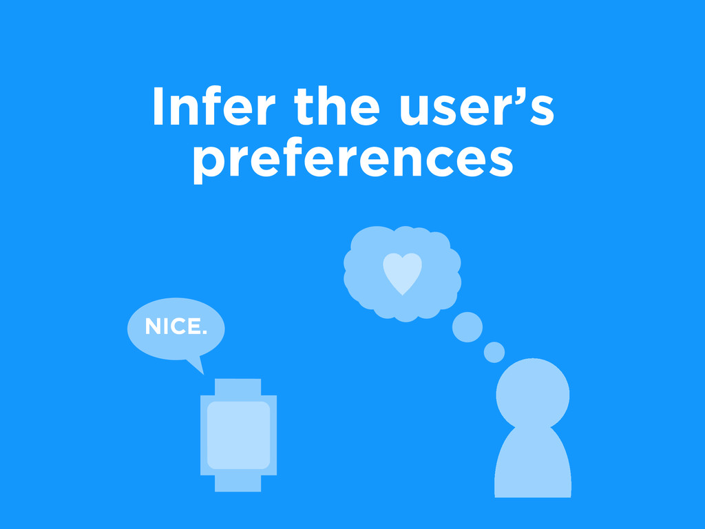 Infer the user's preferences NICE.