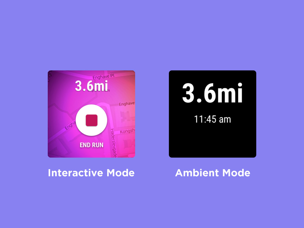 Interactive Mode Ambient Mode