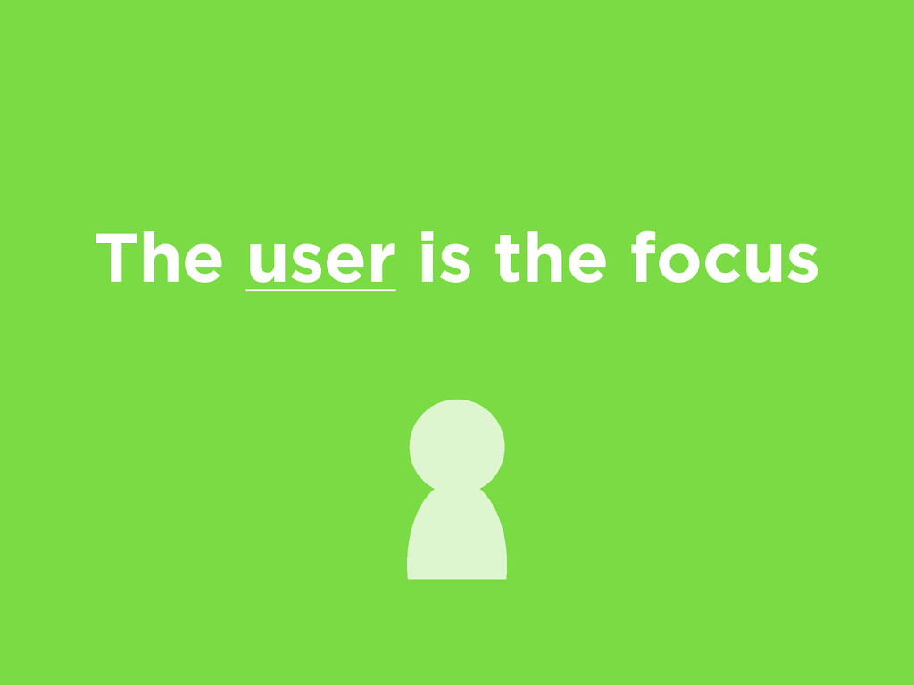 The user is the focus