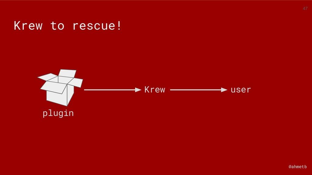 @ahmetb Krew to rescue! user plugin Krew 47
