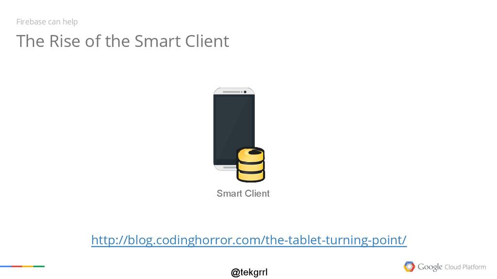 @tekgrrl Smart Client The Rise of the Smart Cli...