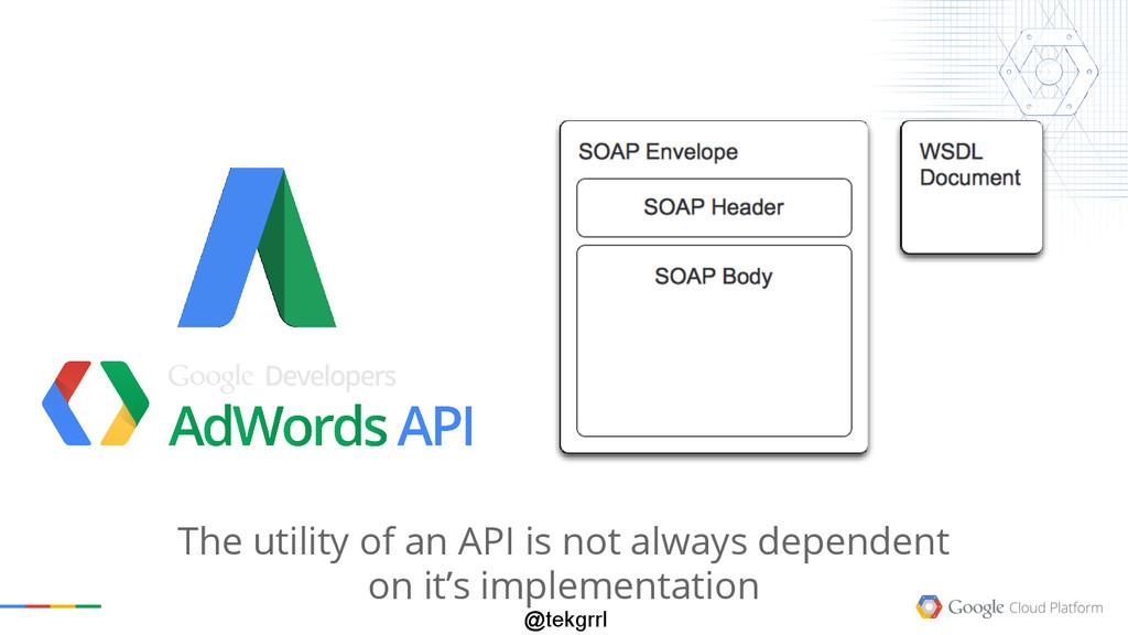 @tekgrrl The utility of an API is not always de...