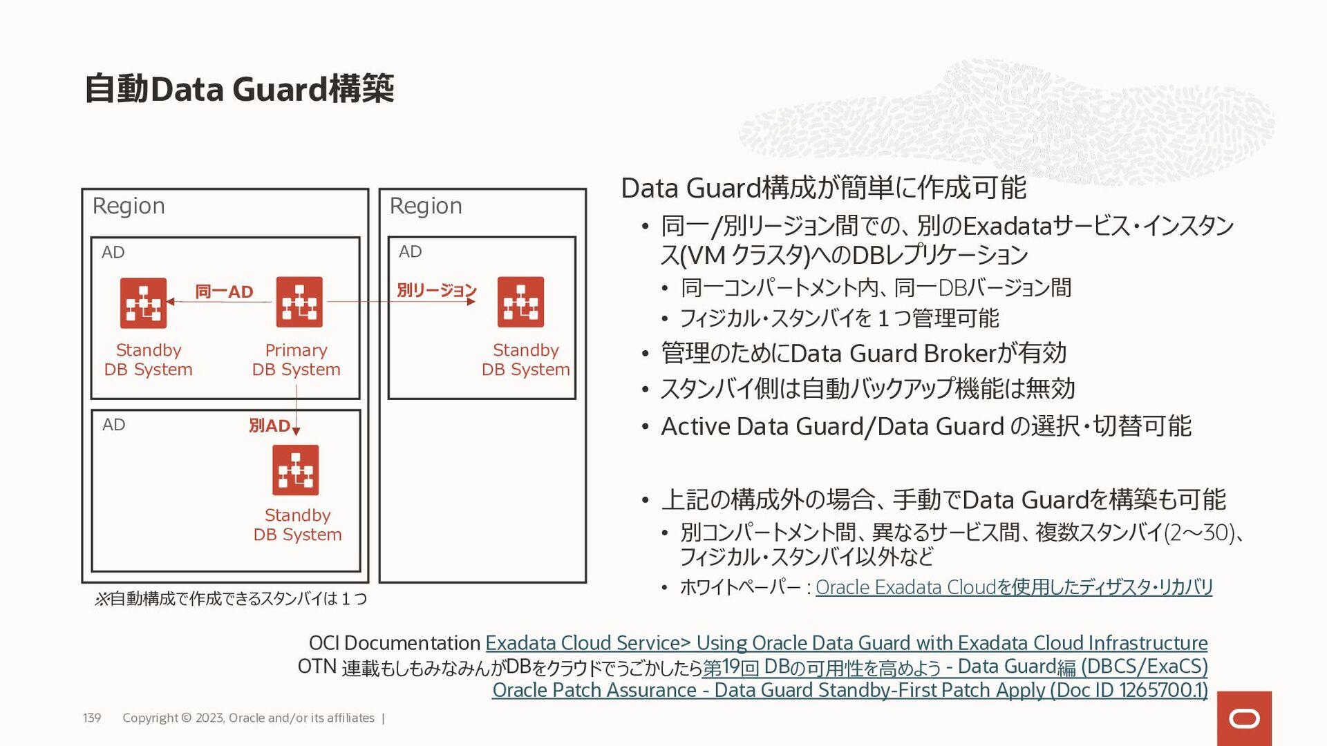 • 全てのエディションで表領域暗号化が有効 • バックアップは暗号化して取得される • SQL...
