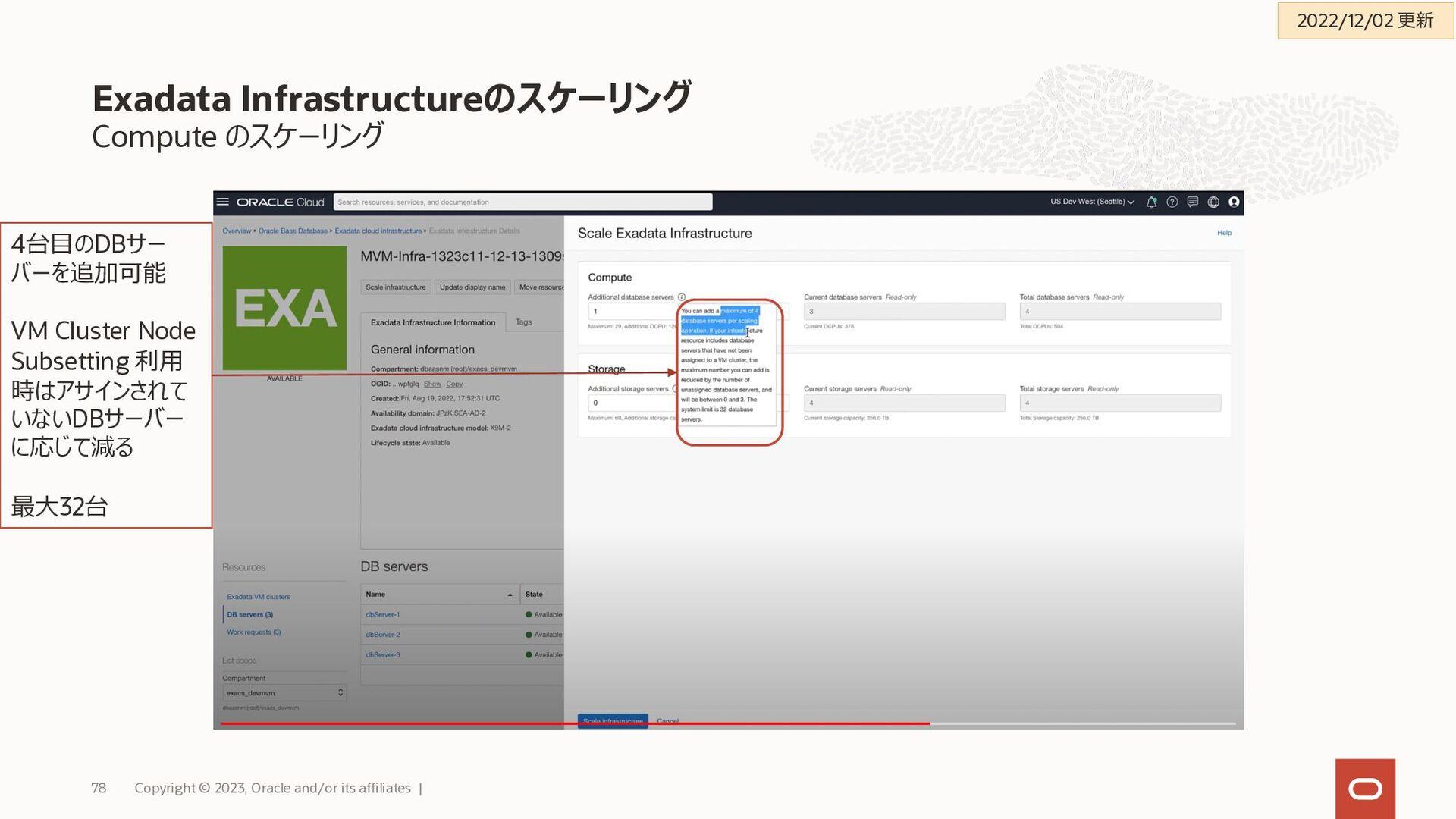 Oracle Cloud Infrastructure - SLA: 数値抜粋 Copyrig...