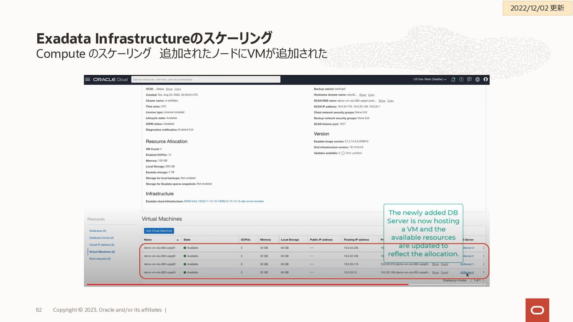 バックアップ考え方によって、取得先や取得先による設定方式を検討 Exadata Cloud S...