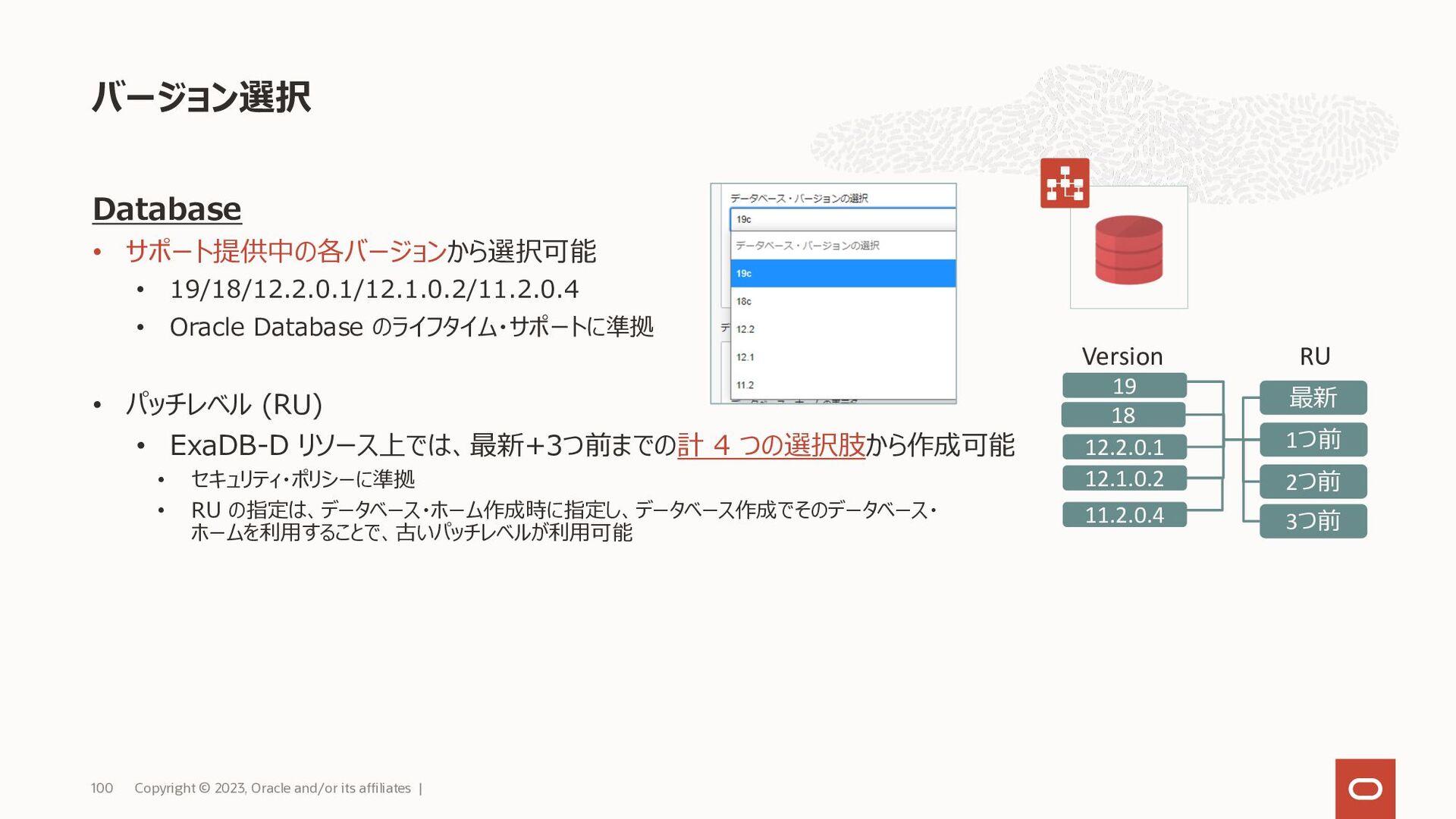 管理範囲 Copyright © 2021, Oracle and/or its affili...