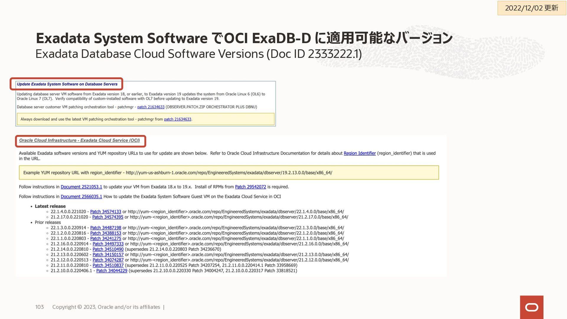 Grid Infrastructure(GI)とデータベースのパッチ適用はコンソールやCLIか...