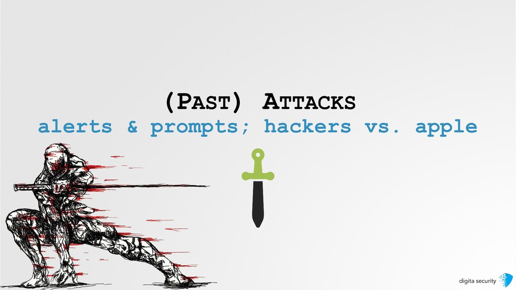 digita security (PAST) ATTACKS alerts & prompts...