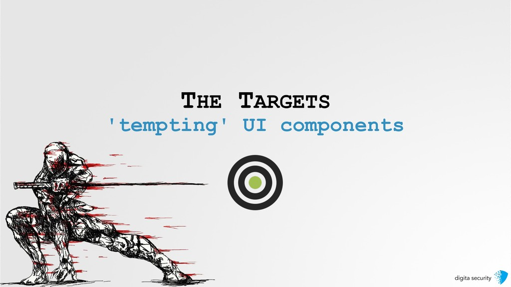 digita security THE TARGETS 'tempting' UI compo...