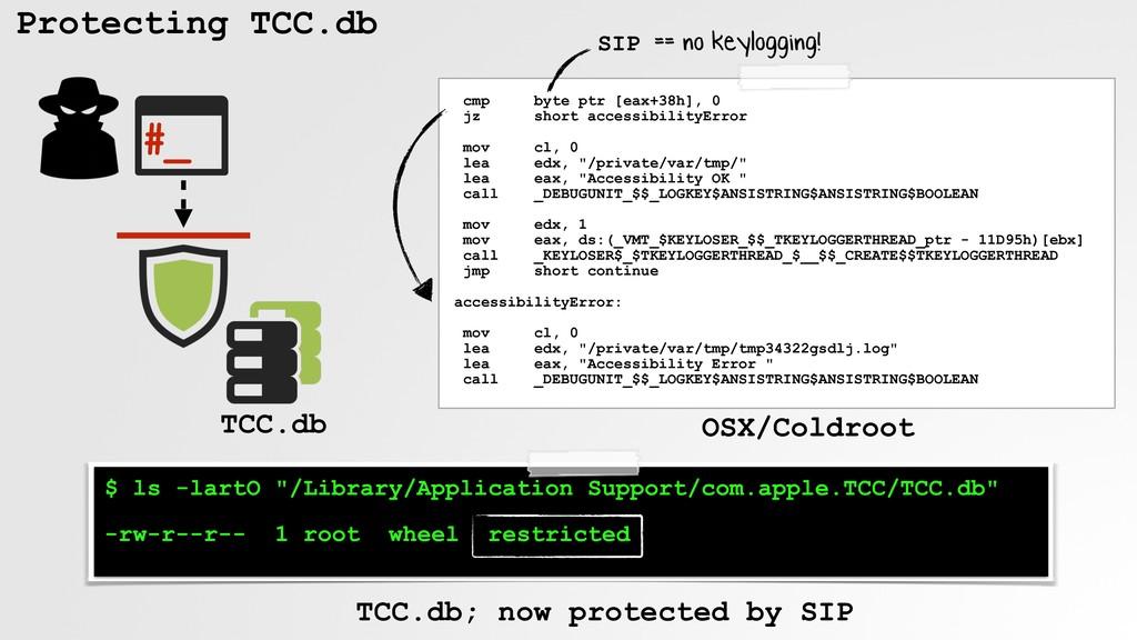 "Protecting TCC.db $ ls -lartO ""/Library/Applica..."