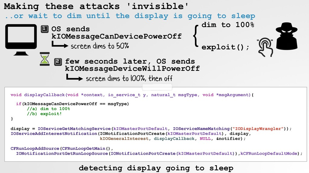 Making these attacks 'invisible' ..or wait to d...