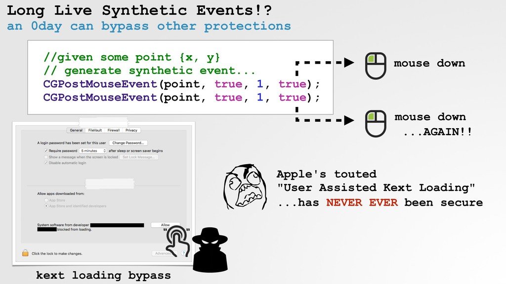 Long Live Synthetic Events!? an 0day can bypass...