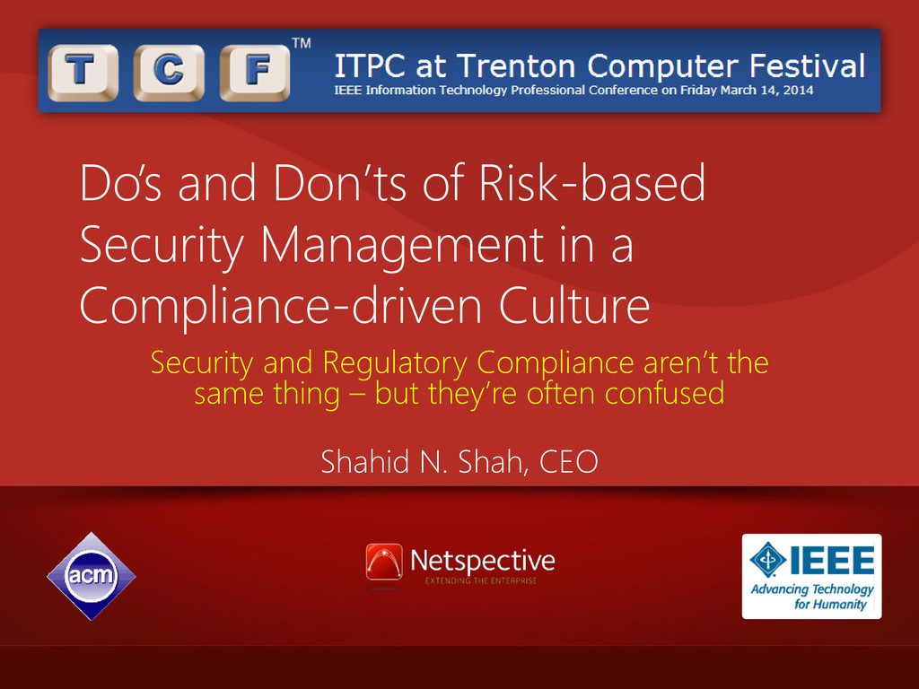 Do's and Don'ts of Risk-based Security Manageme...