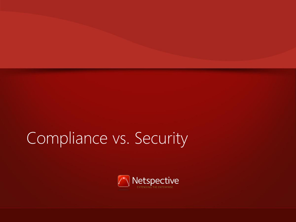 Compliance vs. Security