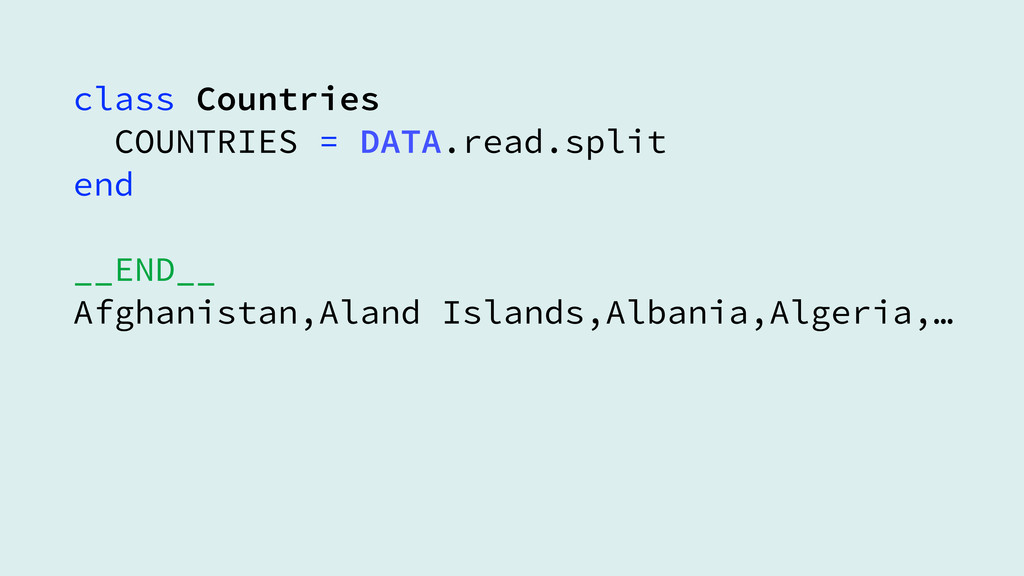 class Countries