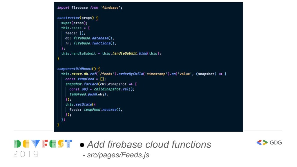 ● Add firebase cloud functions - src/pages/Feed...