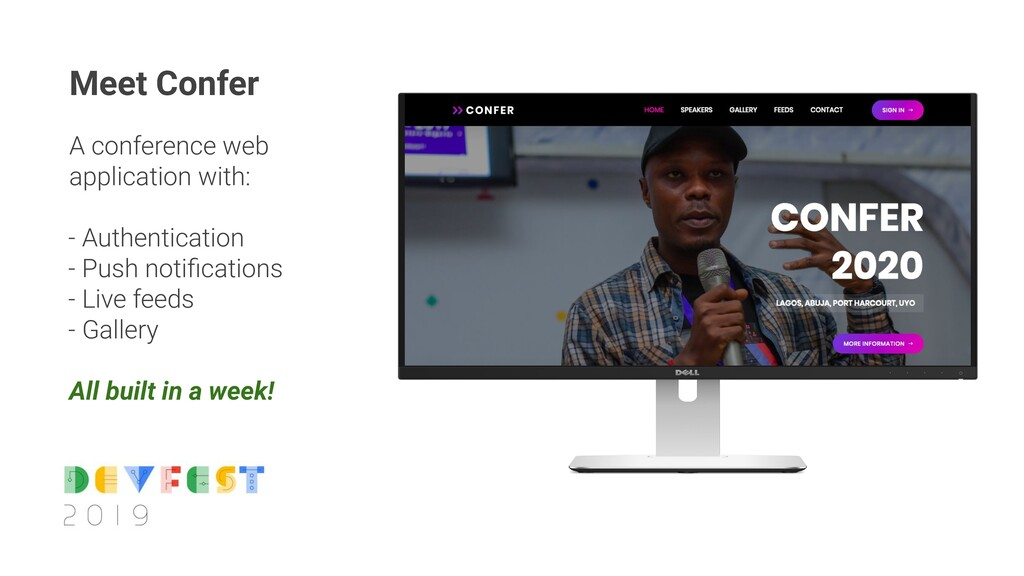 A conference web application with: - Authentica...