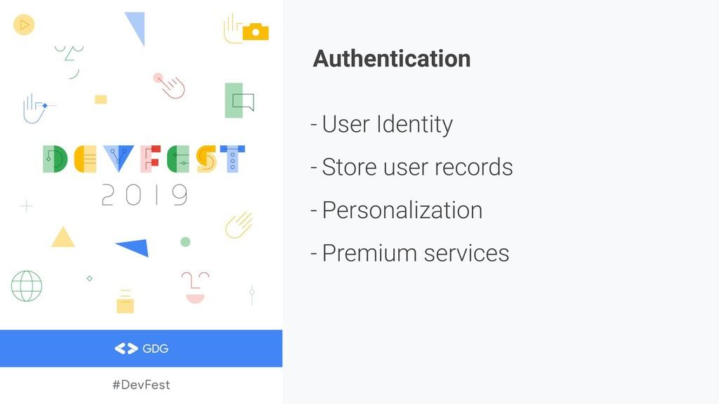 Authentication - User Identity - Store user rec...