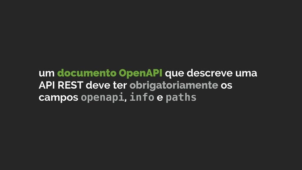 um documento OpenAPI que descreve uma API REST ...