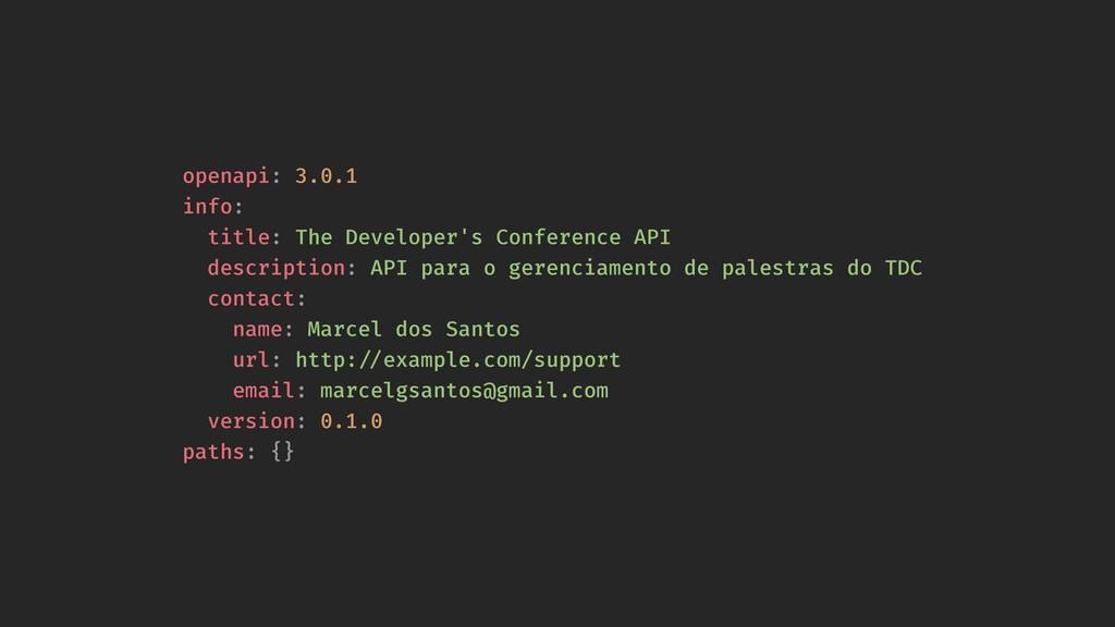 openapi: 3.0.1 info: title: The Developer's Con...