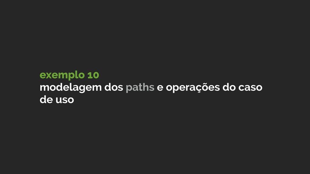 exemplo 10 modelagem dos paths e operações do ...